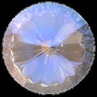 Пришивные риволи Preciosa (Чехия) 12 мм Crystal AB U/золото