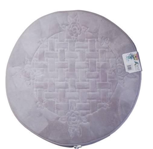 Сиреневый круглый коврик ванную комнату из микрофибры, 90 см  Турция