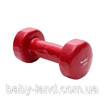 Гантель Profi M 0291 с виниловым покрытием, 3кг (Красный)