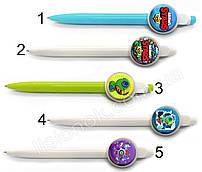 Шариковая ручка Старс, яркая и стильная, с героями любимой игры Stars, синяя паста