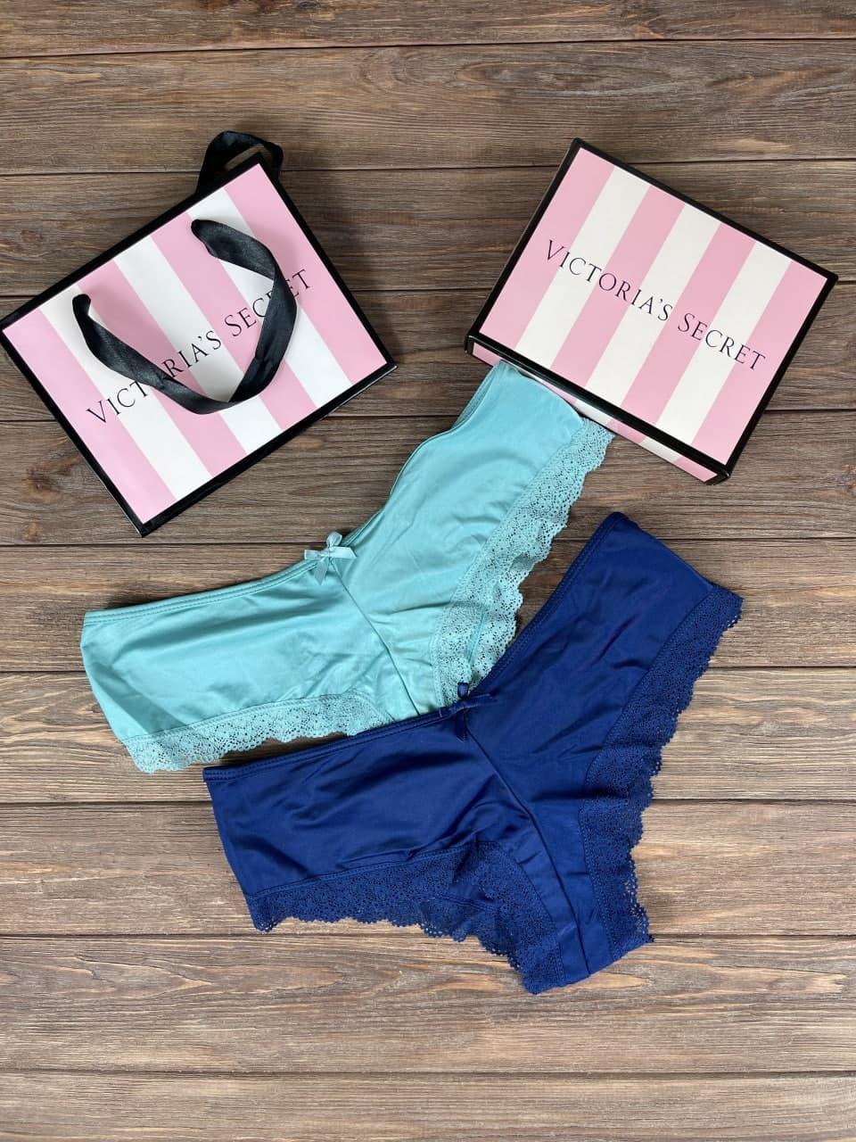 Набор женского белья ажурные трусики Victoria`s Secret из 2 штук Model 2