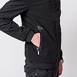 Чоловіча демісезонна куртка, чорного кольору Philipp Plein., фото 4