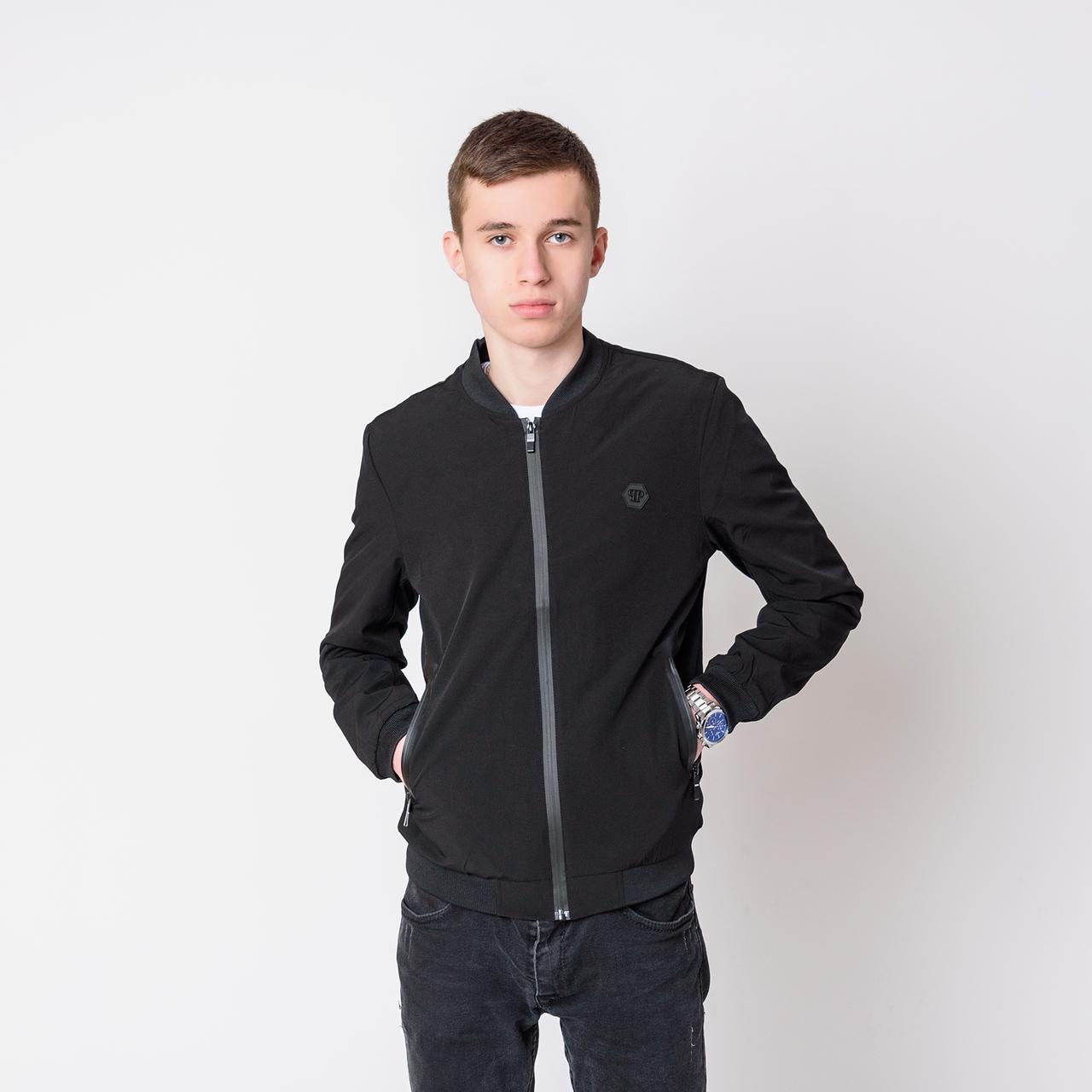 Чоловіча демісезонна куртка, чорного кольору Philipp Plein.