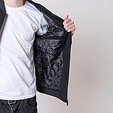 Чоловіча демісезонна куртка, чорного кольору Philipp Plein., фото 6