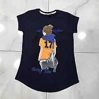Футболка детская 7-14 лет для девочек Турция оптом