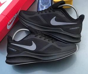Кроссовки Nike Zoom Guide 10 Black Черные мужские реплика