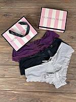 Набір жіночої білизни трусики бікіні Victoria's Secret з 3 штук Model 10, фото 1