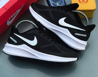 Кроссовки Nike Zoom Guide 10 Black White Черные мужские реплика