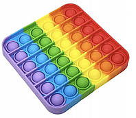 """Сенсорная игрушка антистресс Pop It Поп Ит Пупырышки антистресс, тыкалка """" Нажми пузырь"""" квадрат"""
