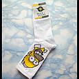 Мультяшные носки с принтом Симпсон унисекс демисезонные высокие молодежные, фото 3