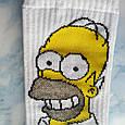 Мультяшные носки с принтом Симпсон унисекс демисезонные высокие молодежные, фото 2