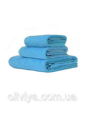 Рушники для готелів блакитний, фото 2