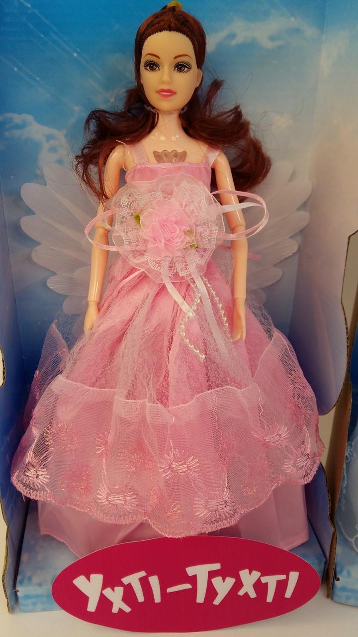 Шарнірна лялька, 31 см, музична, світиться сукню, крила, кулон, крутиться, 2 види , HD9080-81