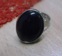 Перстень с черным агатом от студии LadyStyle.Biz
