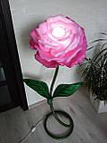 Світильник квітка ручної роботи з ізолону, фото 3