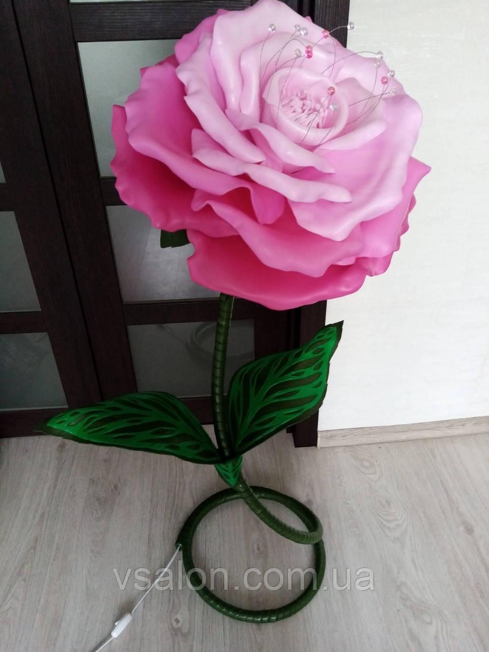 Світильник квітка ручної роботи з ізолону