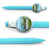 Кулькова ручка Фортнайт, яскрава та стильна, з героями улюбленої гри Fortnite, синя паста