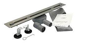 Душовий Трап під плитку 600*18 мм, Desire Viva, (Італія) нержавіюча сталь з сифоном повортным