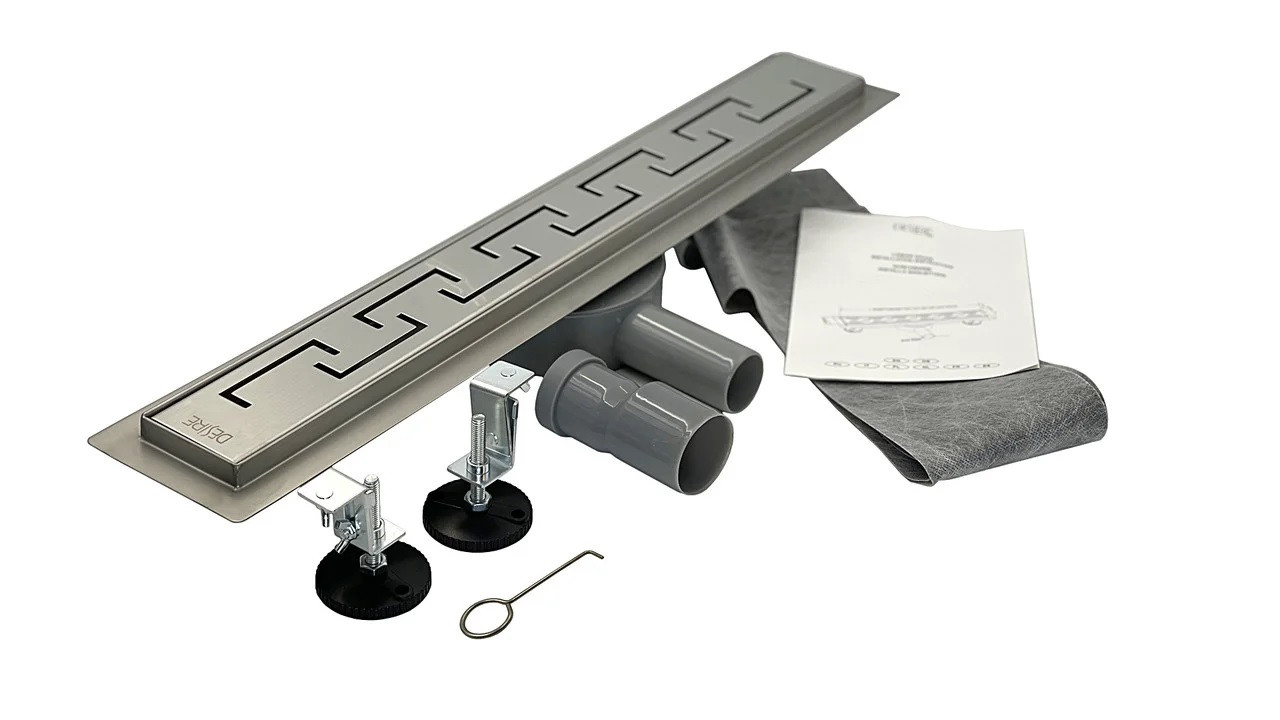 Трап душевой нержавеющая сталь 800*70 мм, Antico (Италия) с поворотным сифоном