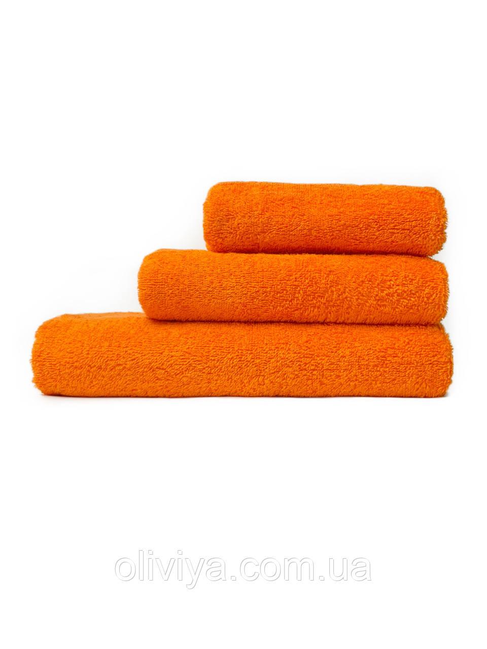Набір махрових рушників помаранчевий