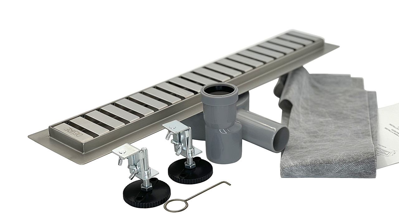 Трап душевой нержавеющая сталь 700 мм, Desire Divina (Италия) ванной комнаты с поворотным сифоном