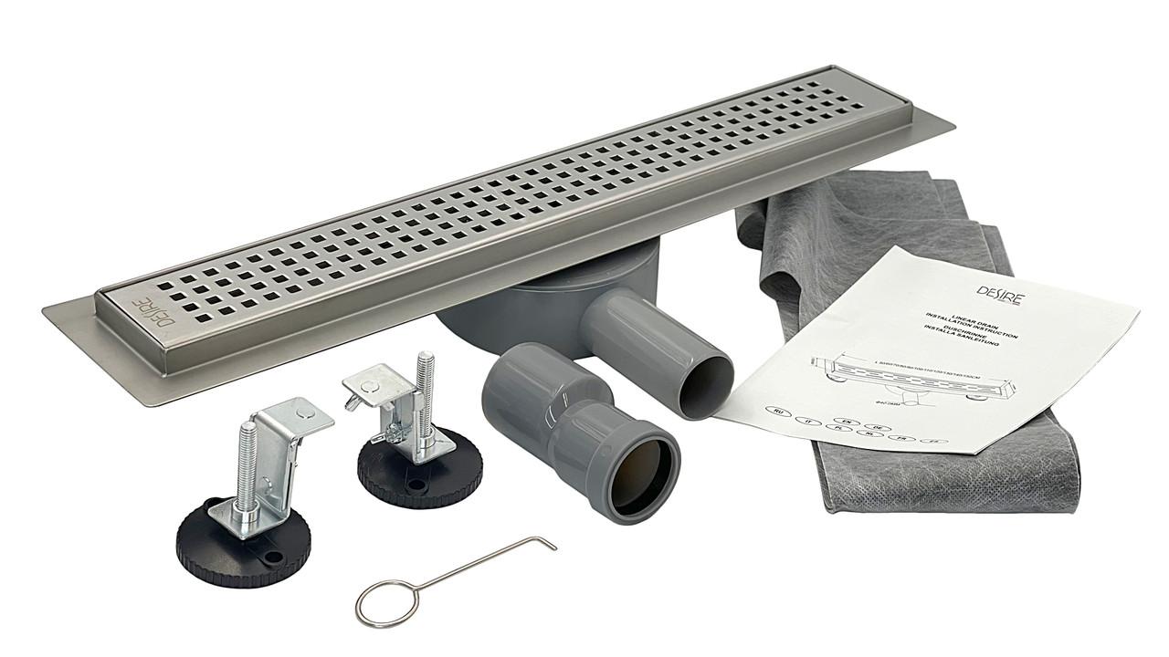 Душовий Трап нержавіюча сталь 800 мм, Desire Tesoro (Італія) для ванної кімнати поворотний сифон