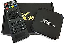 Приставка смарт тв бокс smart tv box x96 mini 4-ядерна 2Гб/16Гб андроїд 7.1.2 чорний 4K