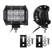Фара LED (6 LED) 5D-18W-SPOT Світлодіодна додаткова автомобільна автофара на дах противотуманки