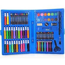 Набір для дитячої творчості та малювання Painting Set 86 предметів дитячий у валізці Блакитний