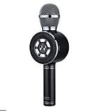 Караоке мікрофон Wster WS-669 бездротовий мікрофон з вбудованим динаміком (USB, microSD, AUX, Bluetooth), фото 4
