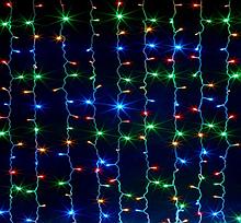 Гірлянда Водоспад 240 LED, розмір 2х2м Мультиколір RD-080