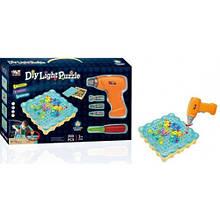 "Конструктор Tu Le Hui ""Diy Light Puzzle"" (200 деталі) 12LED TLH-19 з шуруповертом"