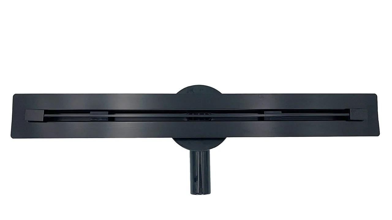 Трап душевой под плитку 900*18 мм, Desire Viva Black (Италия) поворотный сифон, сантехниеский