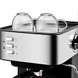 Кофемашина полуавтоматическая 850W с капучинатором DSP Espresso Coffee Maker KA3028, фото 4