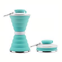 Силіконова пляшка складна folding travel water cup 9588