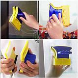 Магнітна щітка для миття вікон двостороння Glass Wiper, фото 6