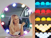 Підсвічування для дзеркала з регулюванням яскравості для макіяжу