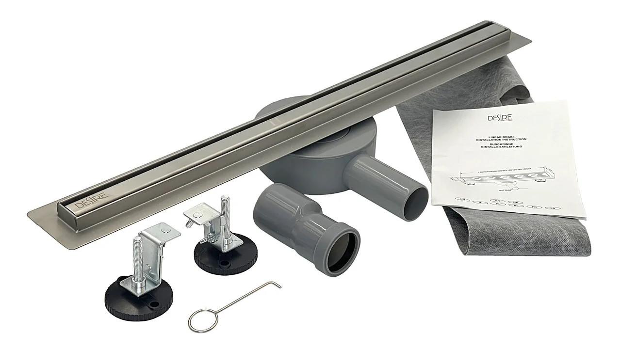 Трап душевой 600*30 мм, 360° Gusto (Италия) нержавеющая сталь для ванной комнаты