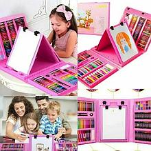 """Набір для дитячої творчості у валізі з 208 предметів """"Чемодан творчості"""" Рожевий"""