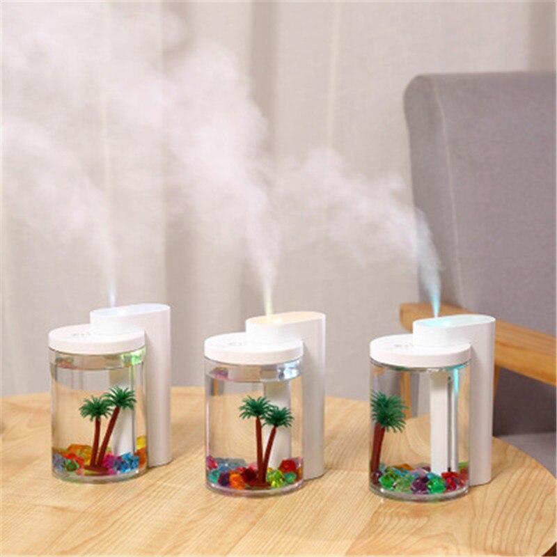 Зволожувач повітря і нічник (2в1) прозора чашка прикраса Humidifier