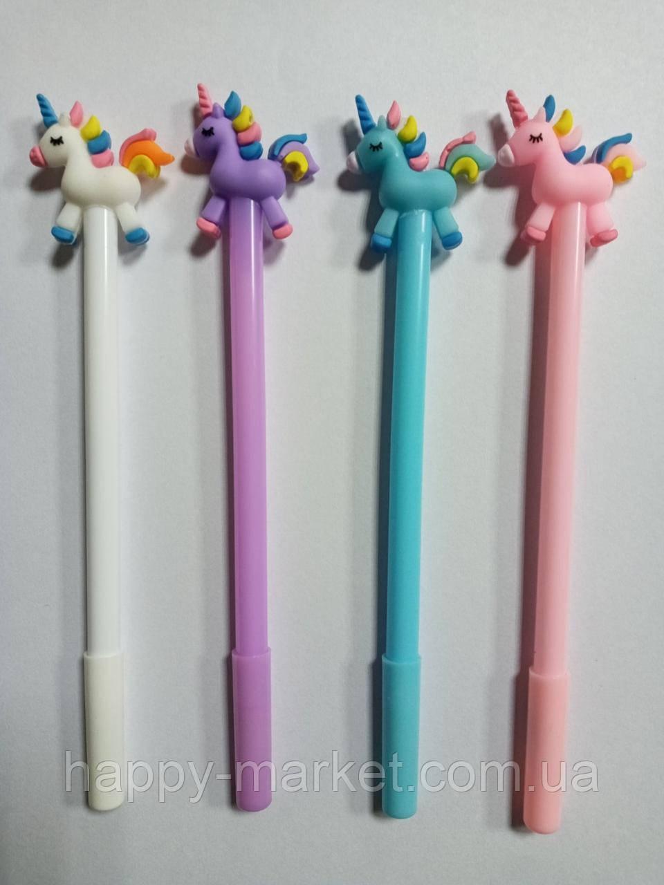 """Ручка дитячий гель №1156 (052) """"Тюльпан"""" силікон, синя 0,5 мм (уп48) змінює колір на ультрафіолеті"""