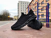Мужские кроссовки мокасины Puma Full Black черные