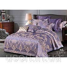Комплект  постельного белья сатин жаккард Тиара семейный размер 1741