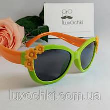 Дитячі поляризовані силіконові окуляри неломайки для дівчаток до 9-ти років