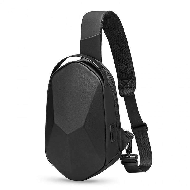 Однолямочный стильный вместительный рюкзак Mark Ryden Mini Carbon с USB-портом Сумка с одной лямкой