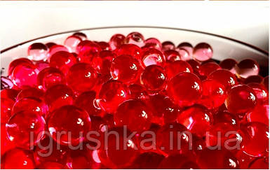 Шарики орбиз 50000 шт. темно-красный цвет (гидрогелевые шарики)