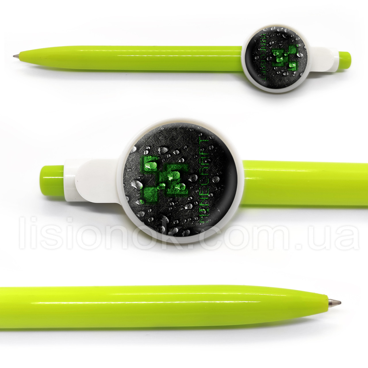 Шариковая ручка Майнкрафт, яркая и стильная, с героями любимой игры Minecraft, синяя паста