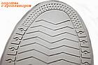 Бахилы для обуви от дождя, снега, грязи многоразовые VOLRO XL с молнией и шнурком-утяжкой Голубой (vol-393), фото 3