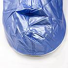 Бахилы для обуви от дождя, снега, грязи многоразовые VOLRO XL с молнией и шнурком-утяжкой Голубой (vol-393), фото 9