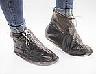 Бахилы для обуви от дождя снега грязи VOLRO L многоразовые с молнией и шнурком-утяжкой Black (vol-401), фото 2